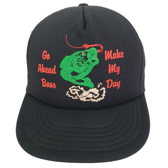 46a0dad64cc45a UnBranded Accessories | Vintage Bass Fishing Snapback Trucker Hat ...